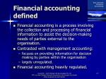 financial accounting defined