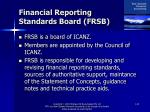 financial reporting standards board frsb