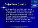objectives cont4