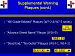 supplemental warning plaques cont33