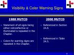visibility color warning signs
