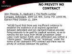 no privity no contract