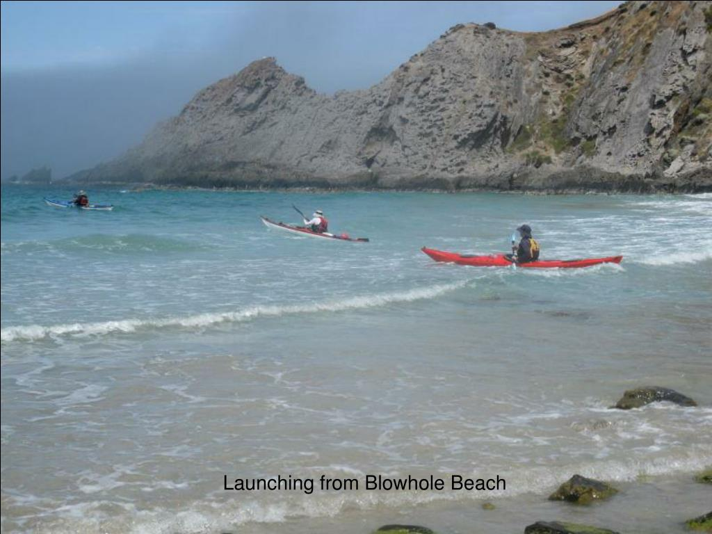 Launching from Blowhole Beach