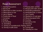 road assessment