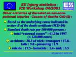 other activities of eurostat on non occu pational injuries causes of deaths cod 2