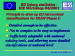 principle to draw up eu harmonised classifications for esaw phase 3