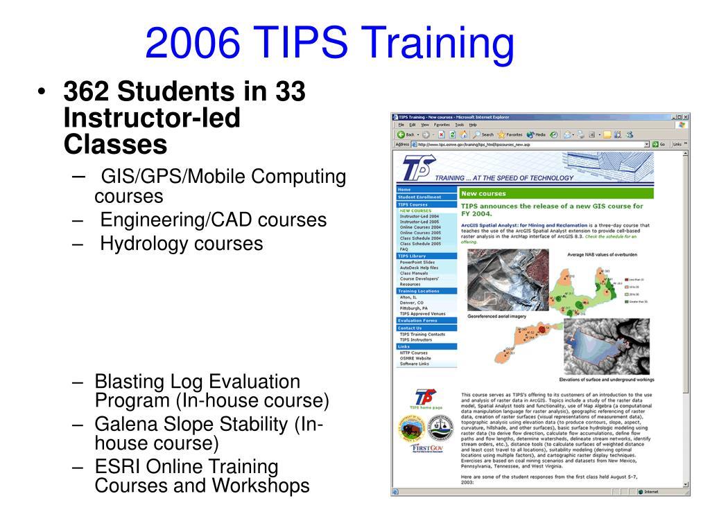 2006 TIPS Training
