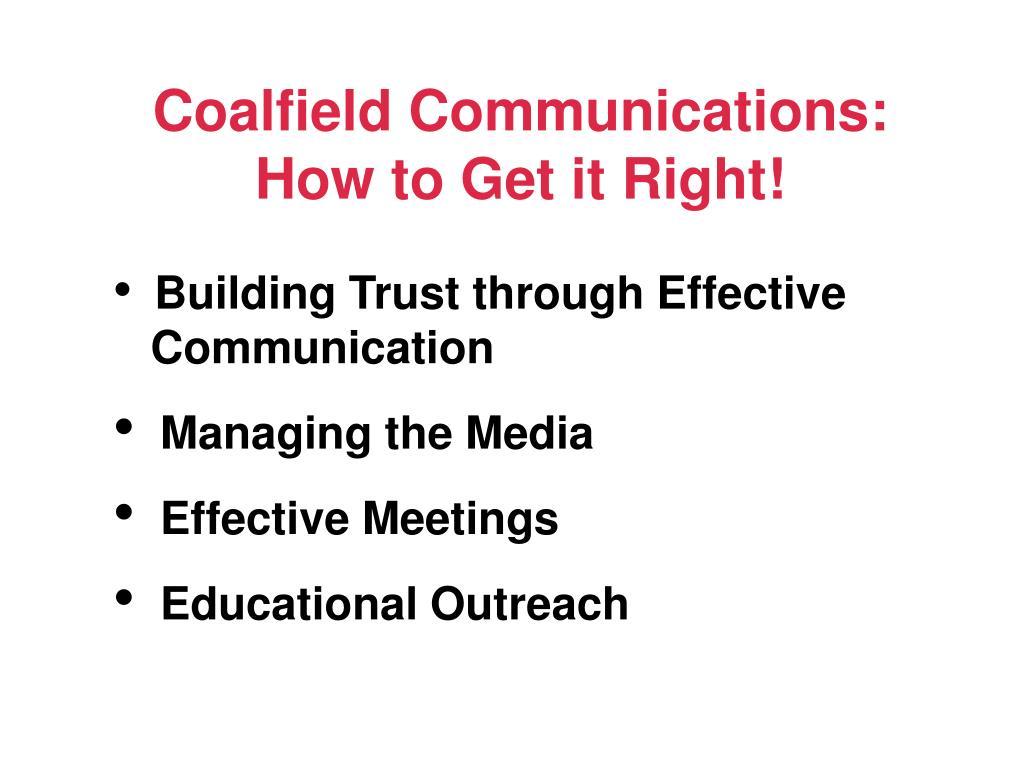 Coalfield Communications: