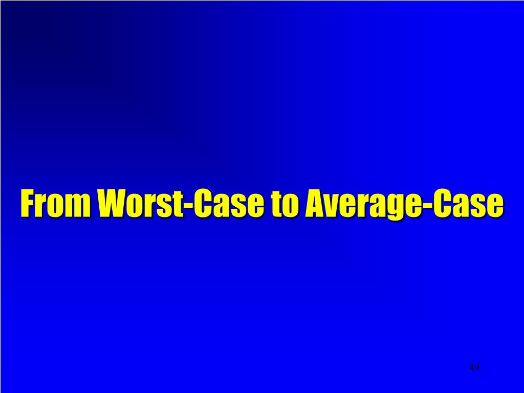 From Worst-Case to Average-Case