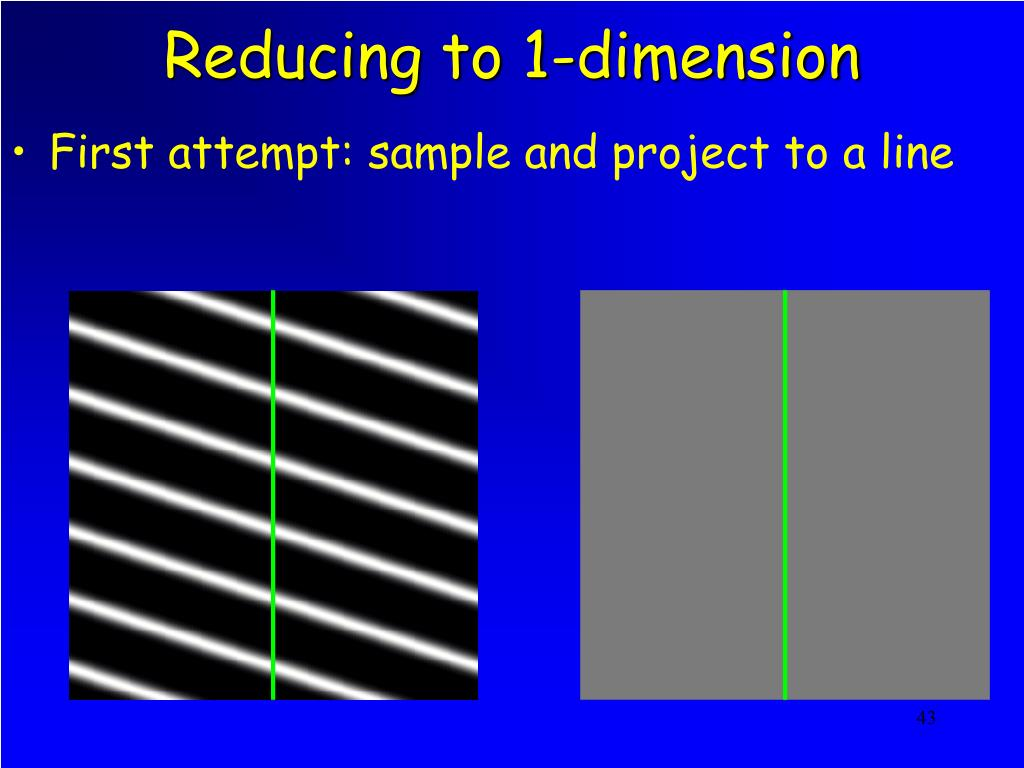 Reducing to 1-dimension