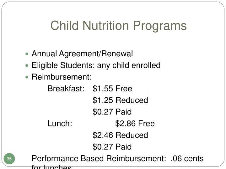 Child Nutrition Programs