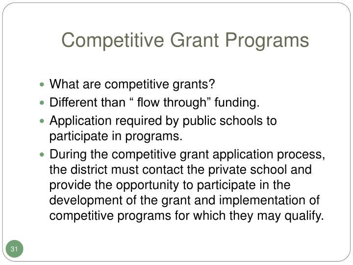 Competitive Grant Programs
