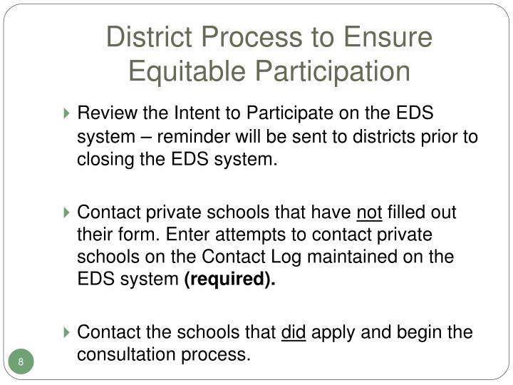 District Process to Ensure