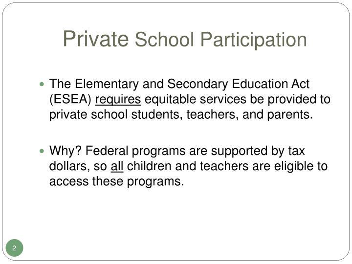 Private school participation