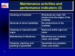maintenance activities and performance indicators 3