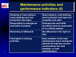 maintenance activities and performance indicators 4