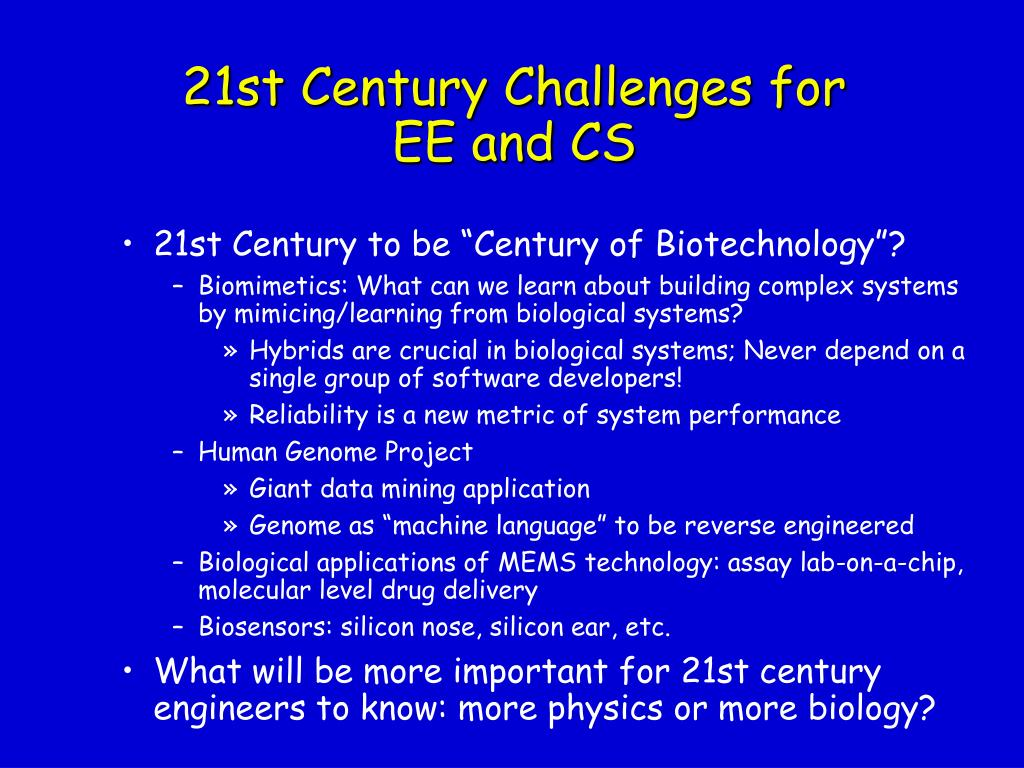 21st Century Challenges for