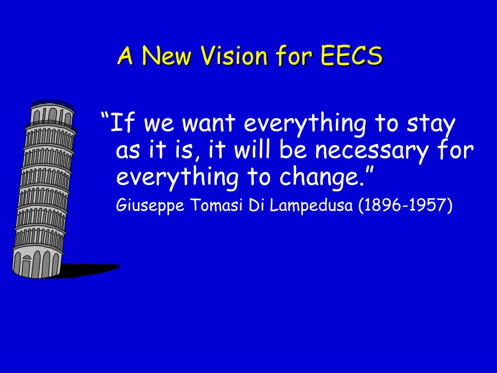 A New Vision for EECS