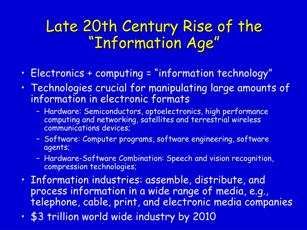 Late 20th Century Rise of the