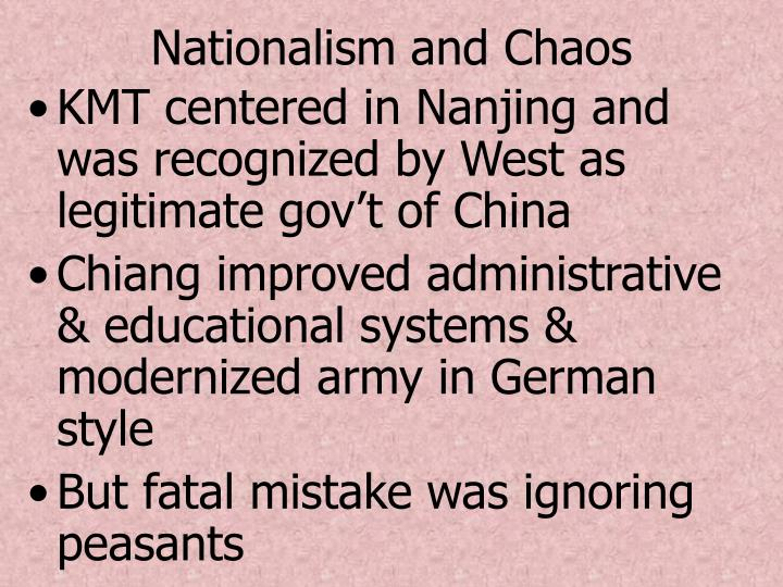 Nationalism and Chaos