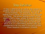 step definition