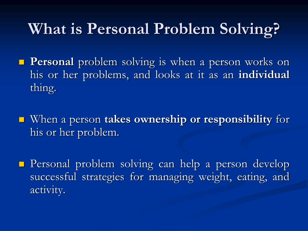 What is Personal Problem Solving?