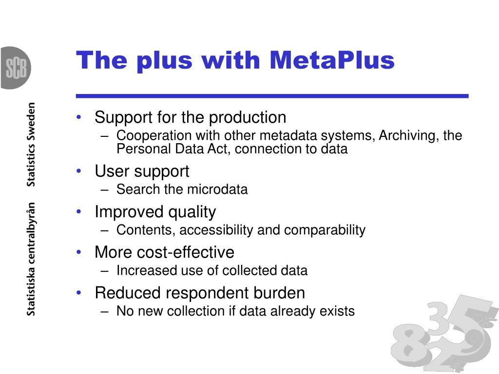 The plus with MetaPlus
