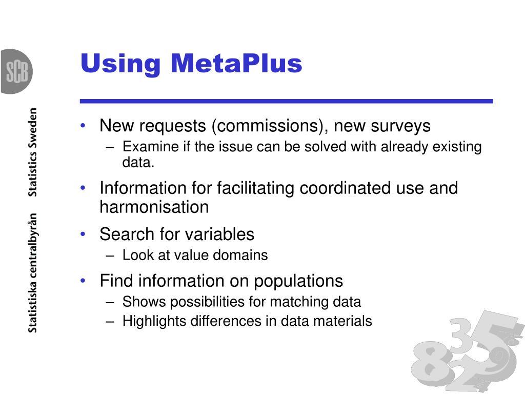 Using MetaPlus
