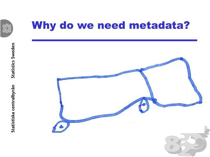 Why do we need metadata