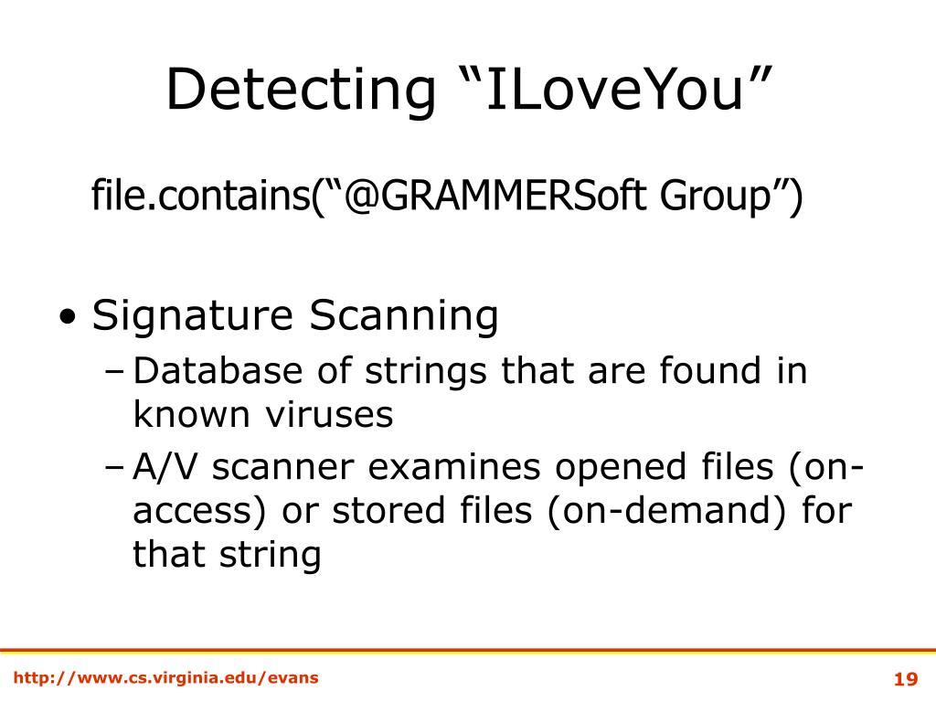 "Detecting ""ILoveYou"""