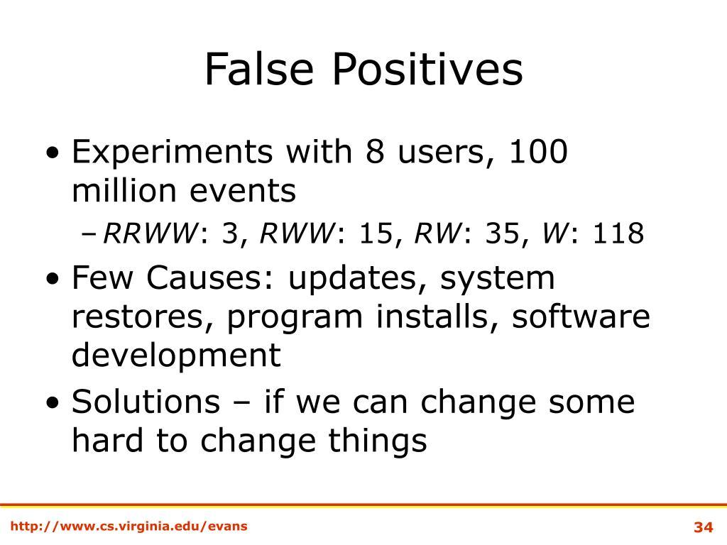 False Positives