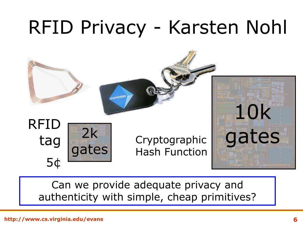 RFID Privacy - Karsten Nohl