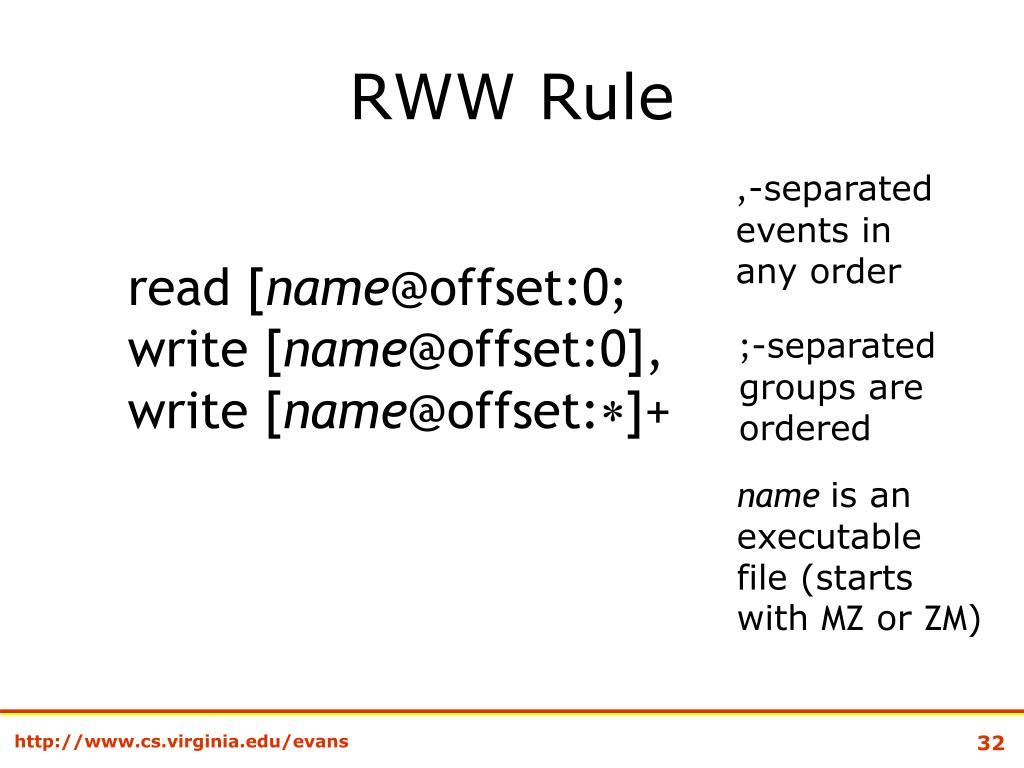 RWW Rule