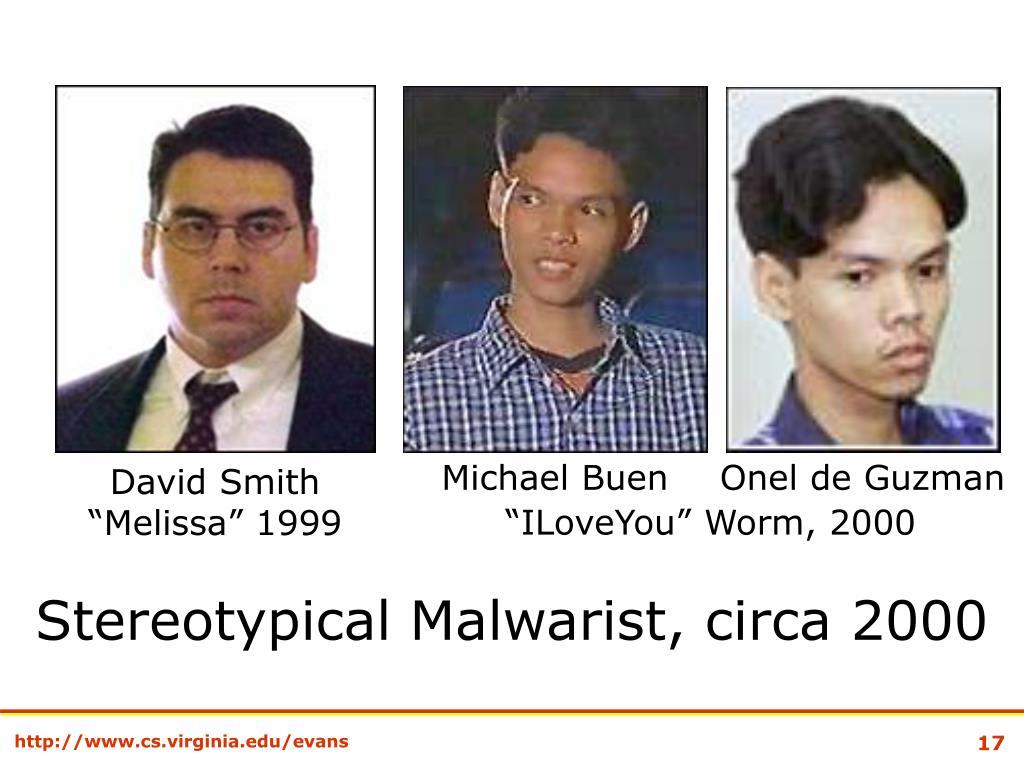 Stereotypical Malwarist, circa 2000
