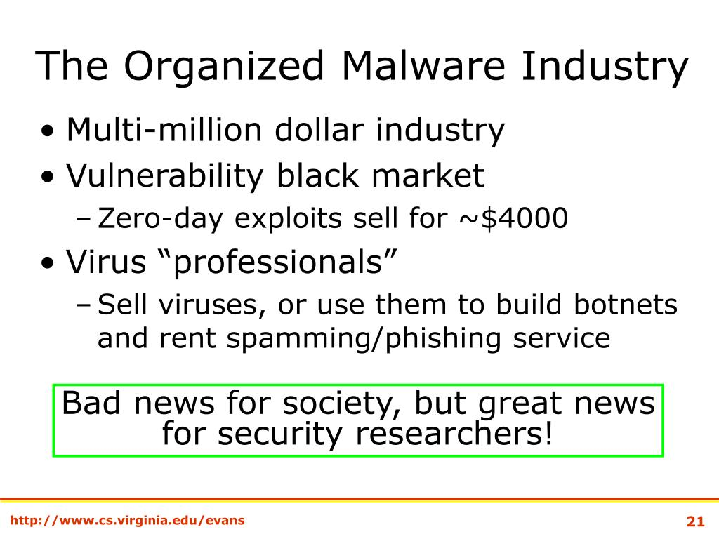 The Organized Malware Industry