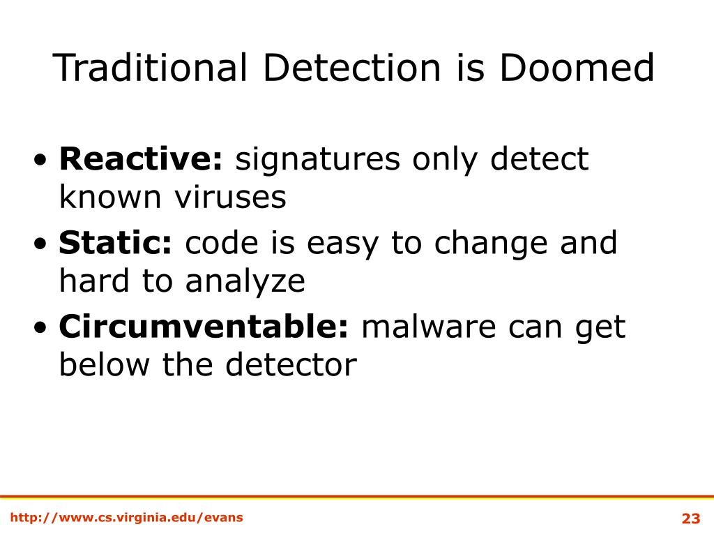 Traditional Detection is Doomed