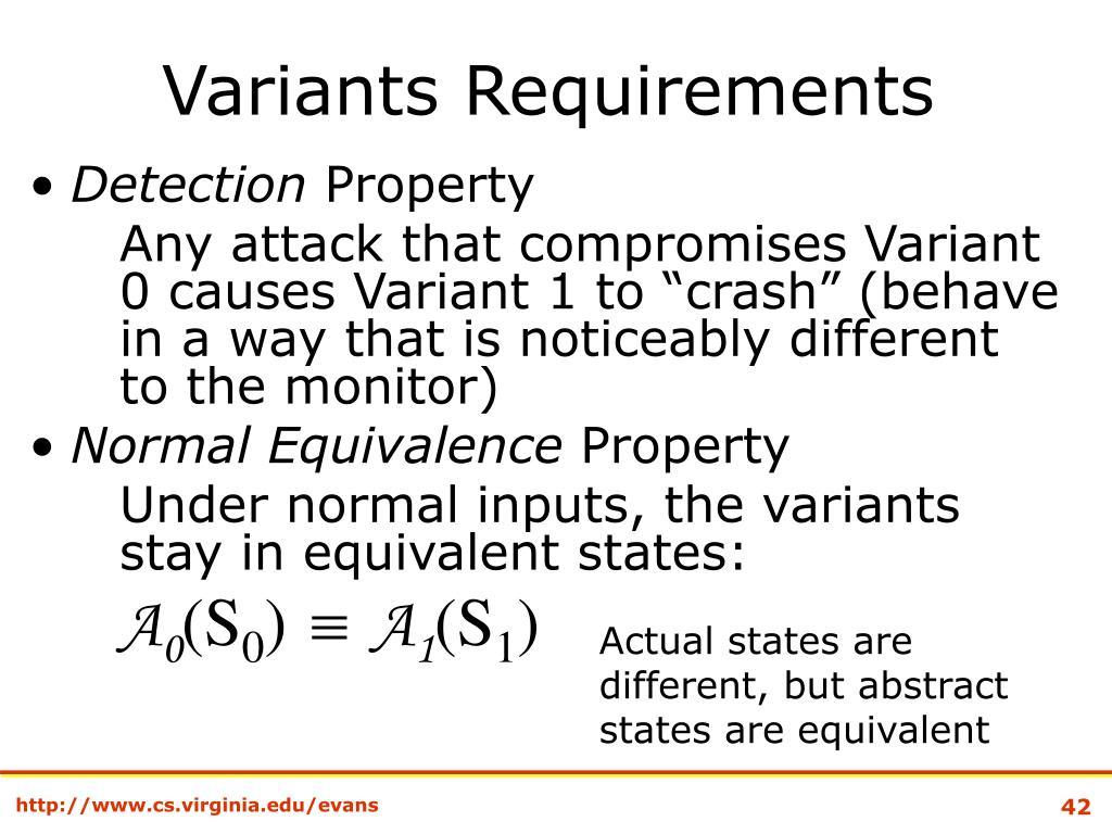Variants Requirements