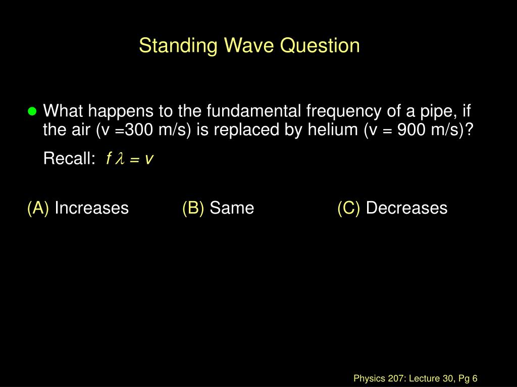 Standing Wave Question