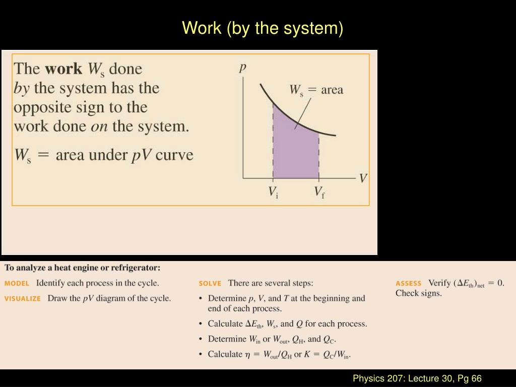Work (by the system)