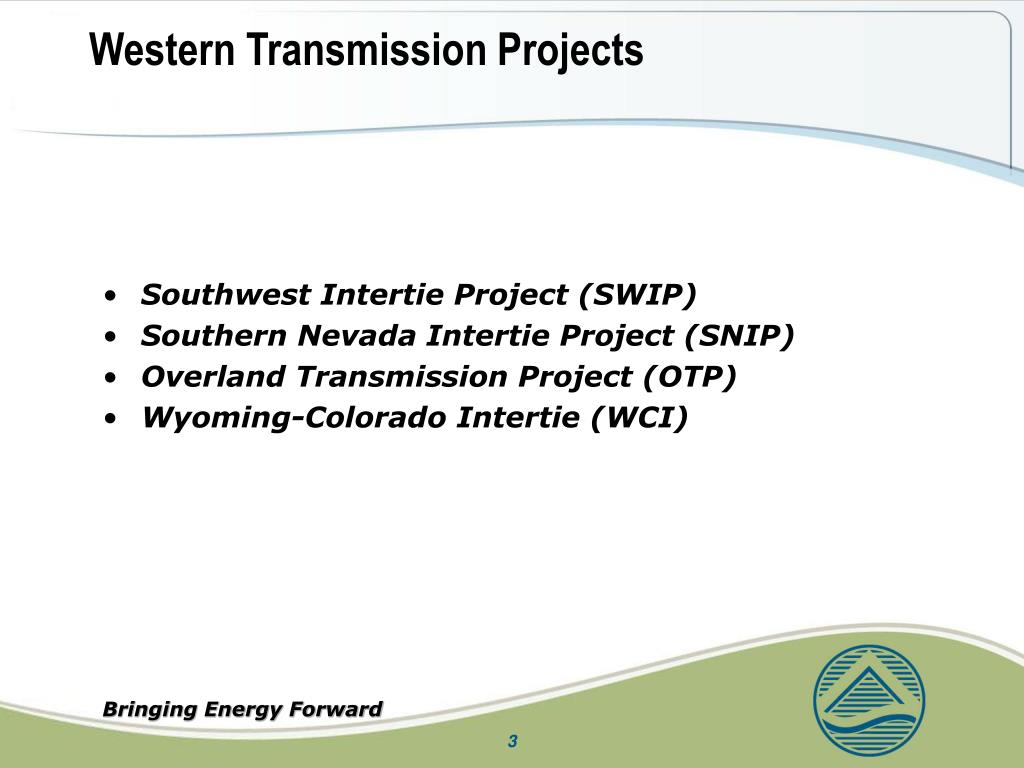 Western Transmission Projects