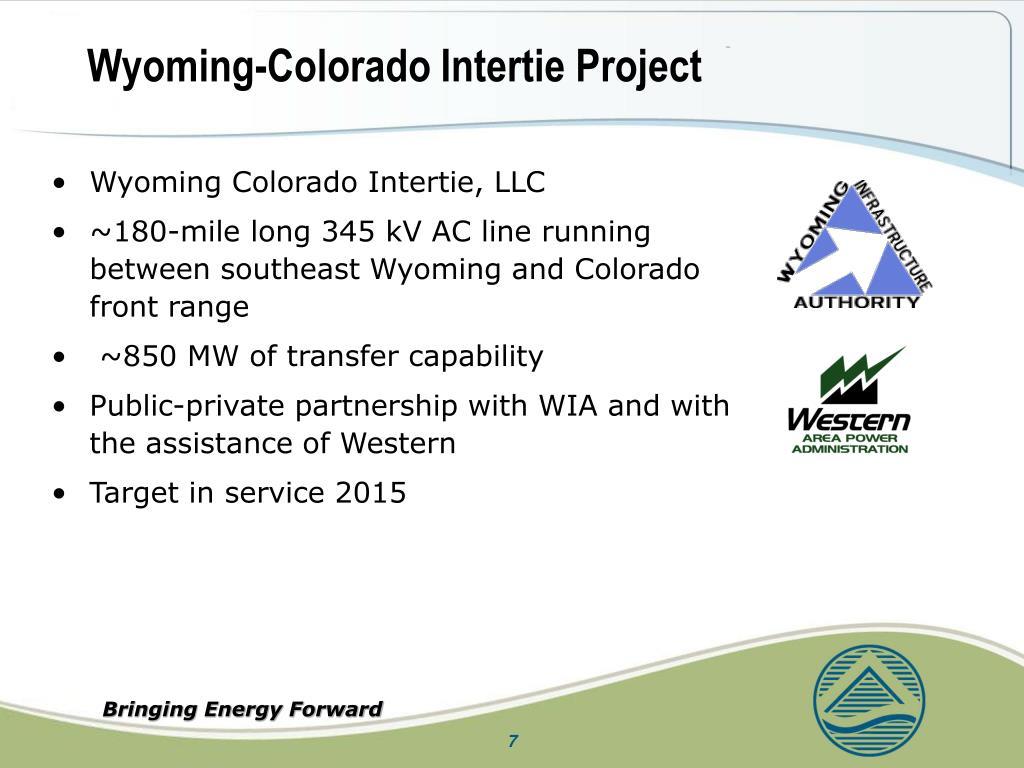 Wyoming-Colorado Intertie Project