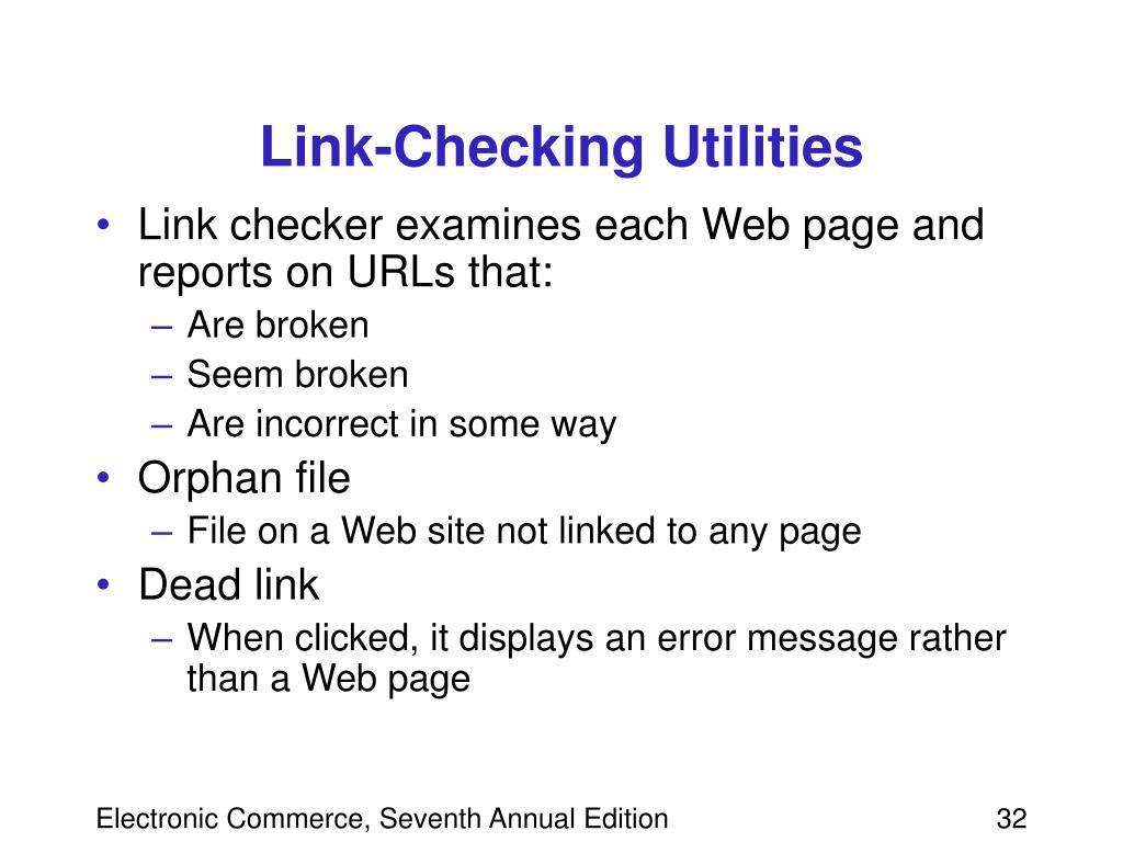 Link-Checking Utilities