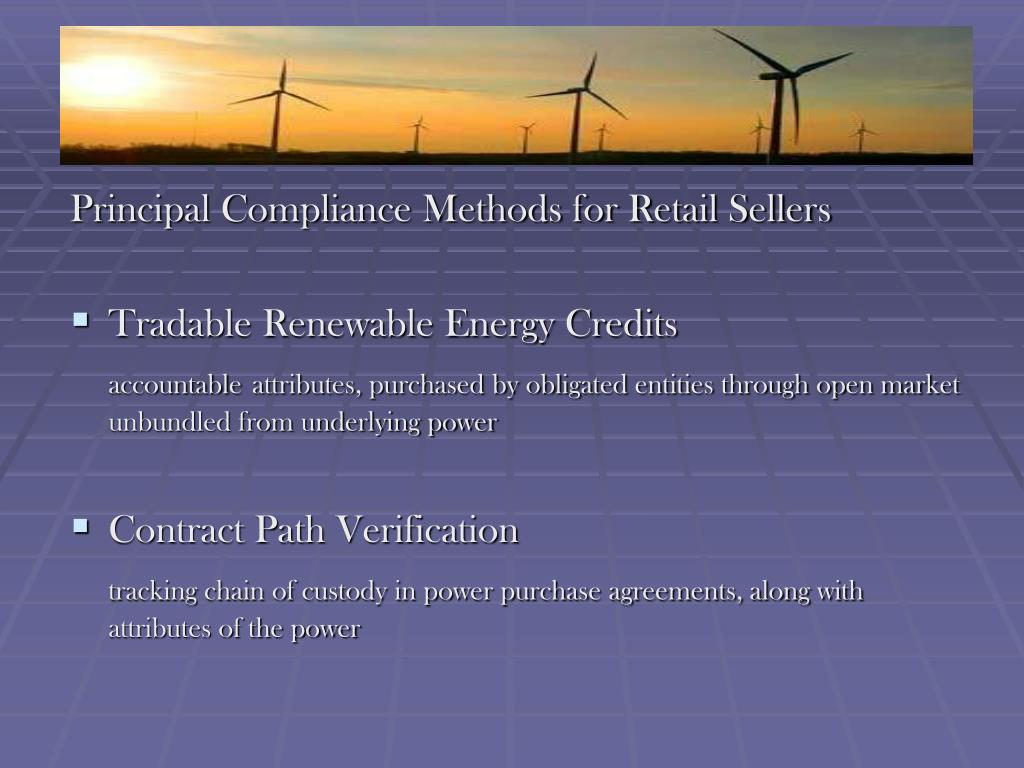 Principal Compliance Methods for Retail Sellers