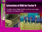 extraction of dna for factor v50