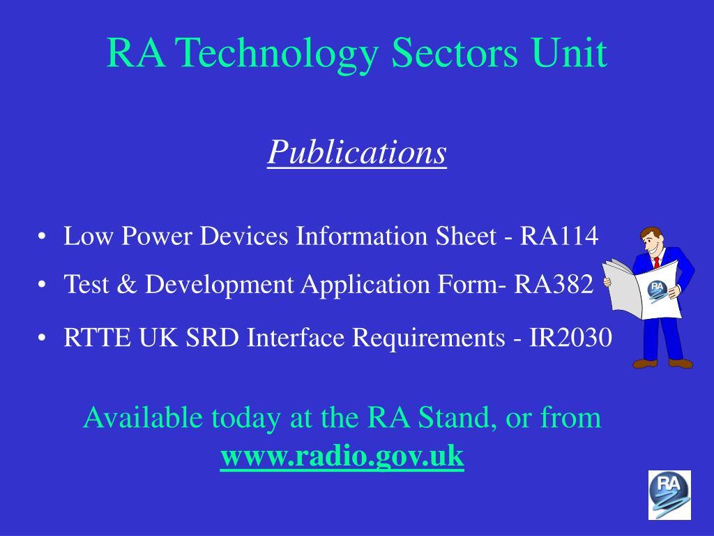 RA Technology Sectors Unit