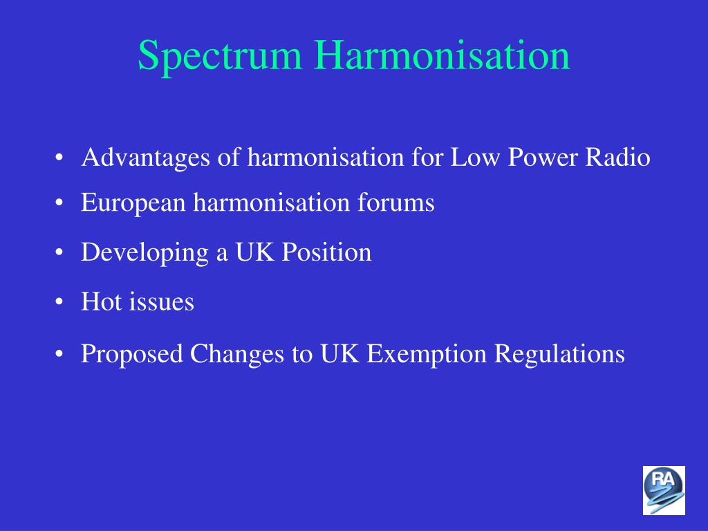 Spectrum Harmonisation
