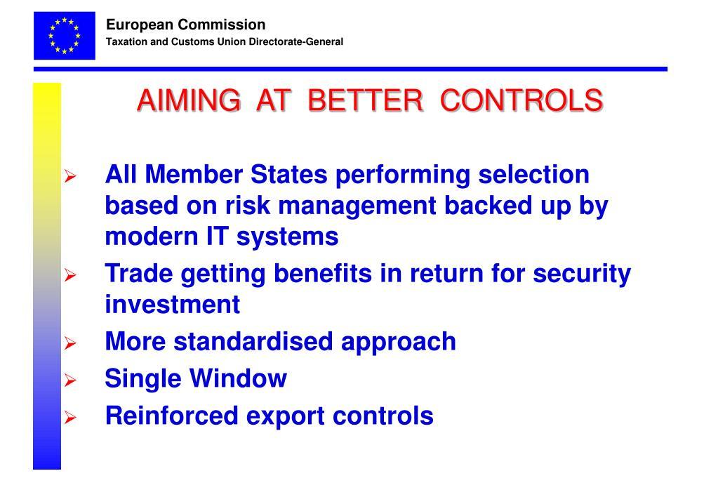 AIMING  AT  BETTER  CONTROLS