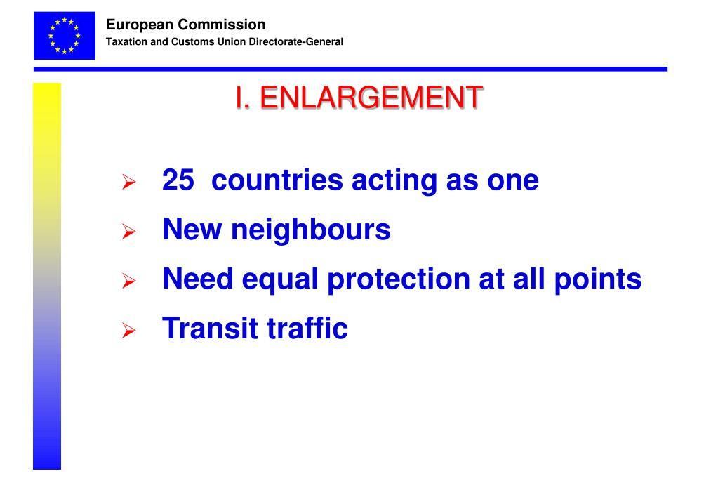 I. ENLARGEMENT
