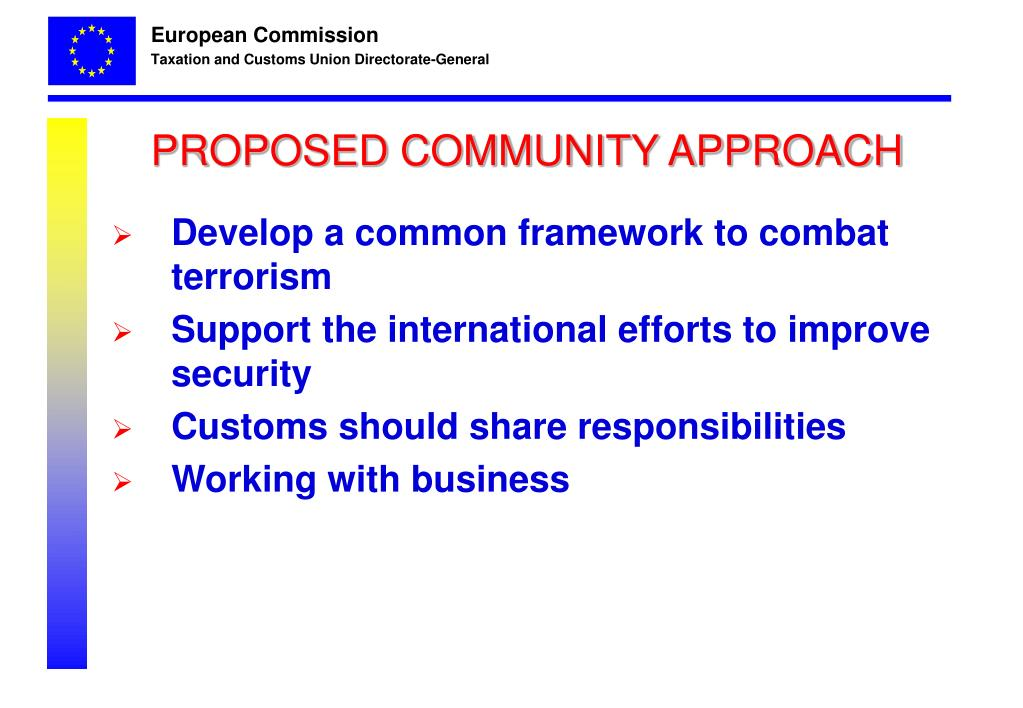 PROPOSED COMMUNITY APPROACH