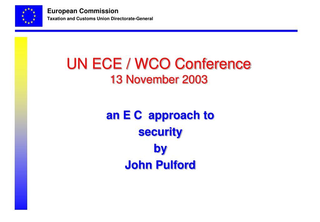 UN ECE / WCO Conference